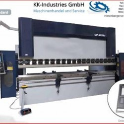 Sheet metal working / shaeres / bending - Hydr. pressbrake - KK-Industries CNC 37220 4 Achsen (Y1-Y2-X-R Axis)