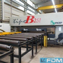 Steelprocessing/drilling/burning/notching - Flat and plate processing - FICEP Tipo B 251